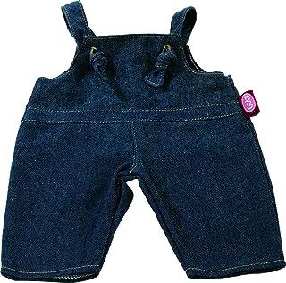 Götz 3402482 Latzhose Denim für Babypuppen - Puppenkleidung Gr. S passend für Puppen von 30 - 33 cm