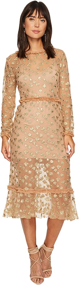For Love and Lemons - Golden Garden Tulle Midi Dress