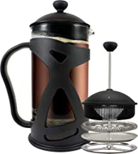KONA French Press Coffee Maker With Reusable Stainless Steel Filter, Large Comfortable Handle & Glass Protecting Durable B...