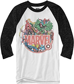 Marvel Retro Group Collage Officially Licensed Adult Raglan Shirt