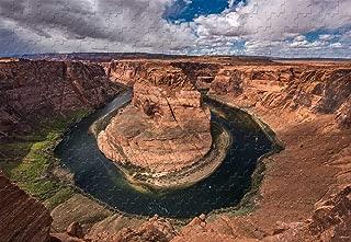 Horseshoe Bend Scenic Overlook Arizona 500 Piece Jigsaw Puzzle 20.6 X 15.1'' Wood-Material Bright Cartoon