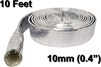 Electriduct Aluminum Coated Fiberglass Heat Reflective Cable Protection and Wire Safety Management Sleeving - 10mm (0.4