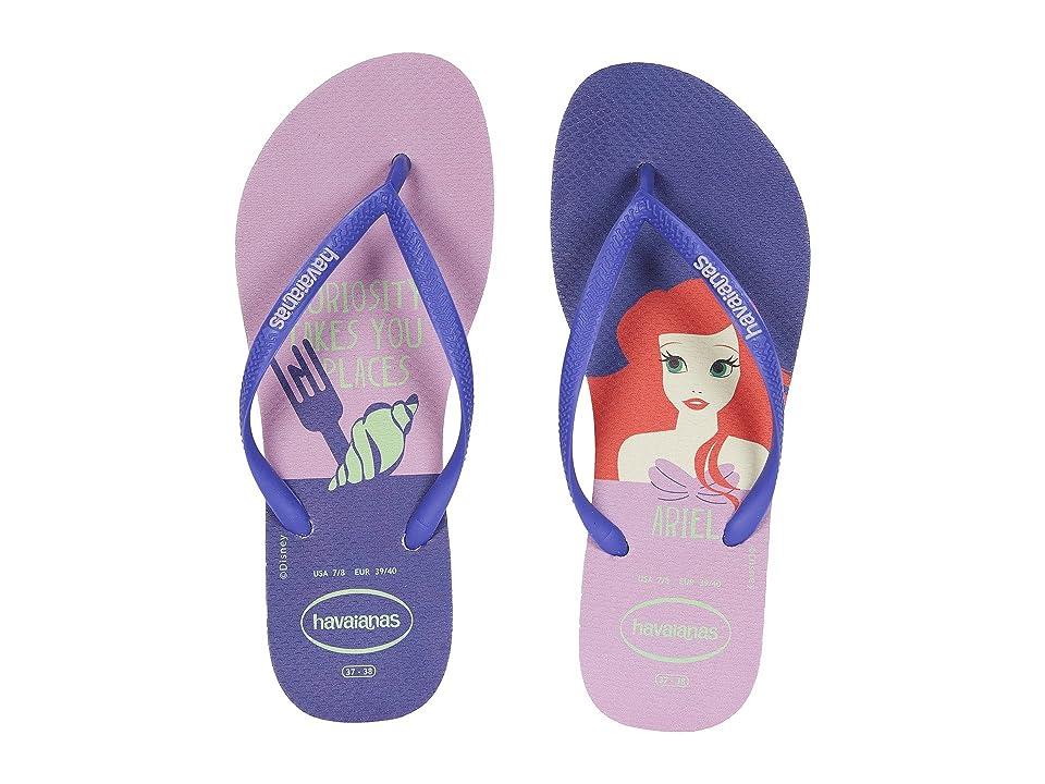 Havaianas Slim Princess Flip Flops (White/Purple) Women