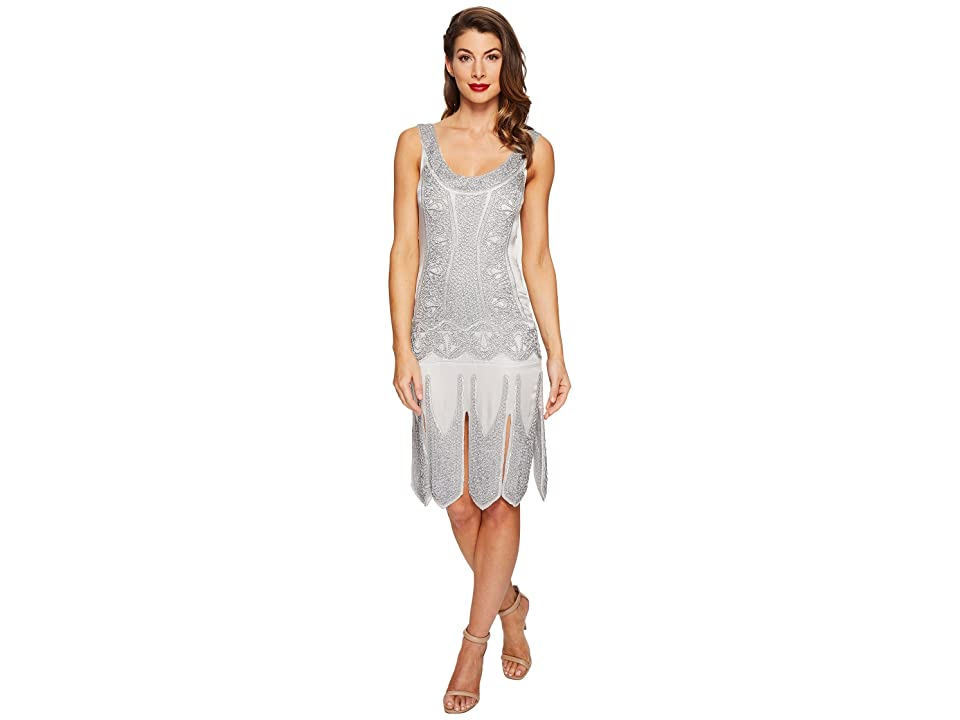 Unique Vintage Eleanor Flapper Dress (Silver) Women