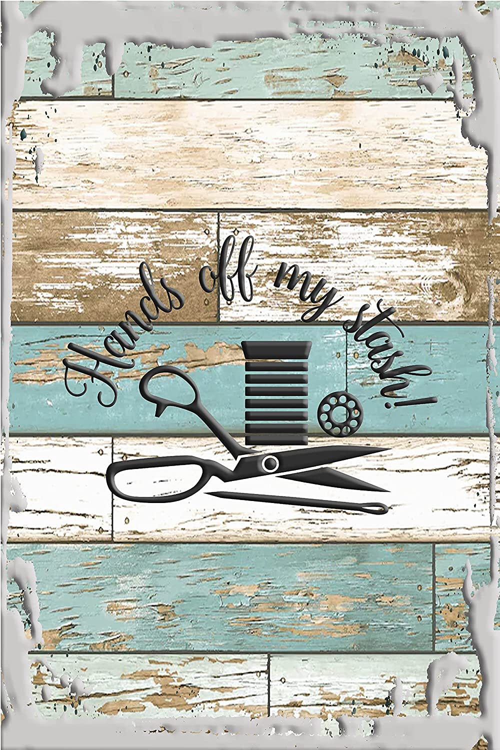 Hands off my Credence New life stash scissors needle sewing and hobby thread funny