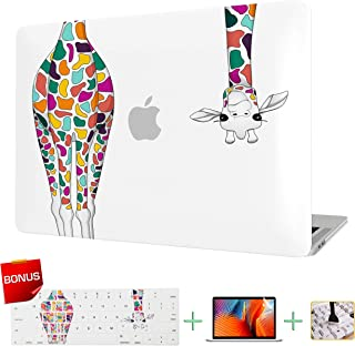 Laptop Case MacBook Case Hard Shell Cover for MacBook Pro 13 inch with Retina Display Model A1425/A1502 with Keyboard Cover and Screen Protector (Colorful Giraffe)