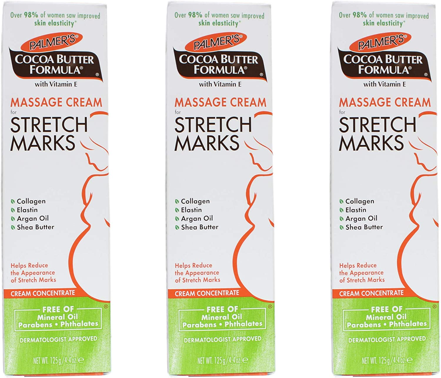 Palmer's Cocoa Butter Formula Massage Cream for Stretch Marks, 4.4 Ounce (Pack of 3)