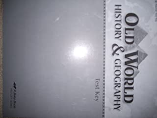 Old World History & Geography, Test Key Grade 5, Abeka 2009 History Series