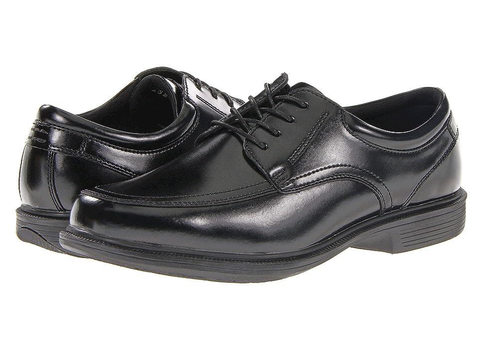 Nunn Bush Bourbon Street Moc Toe Oxford with KORE Slip Resistant Walking Comfort Technology (Black) Men