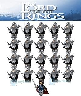 FidgetKute 21PCS Lord of The Rings Hobbit Gondor Armor Archer Bowman Building Block DIY Toy