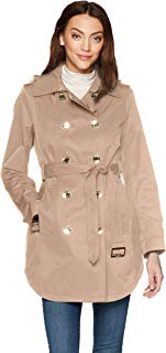 Calvin Klein Womens Double Breasted Trench Rain Jacket Jacket