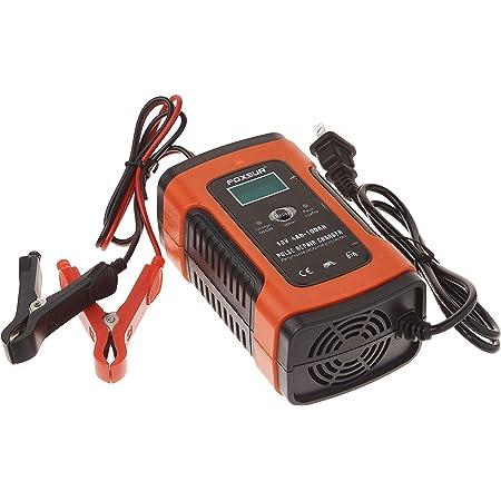 Manwe 12V 5A Pulse Réparation Chargeur avec Affichage LCD, Moto et Chargeur de Batterie de Voiture, 12 V AGM Gel Wet Chargeur de Batterie au Plomb
