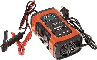 Manwe 12V 5A Pulse Réparation Chargeur avec Affichage LCD, Moto et Chargeur de Batterie de Voiture, 12 V AGM Gel Wet Charg...