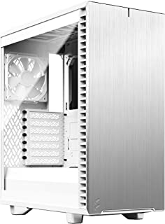Fractal Design Define 7 CompactWhiteBrushed Aluminum/Steel ATX Compact Silent Tempered Glass Window Mid Tower Computer Case