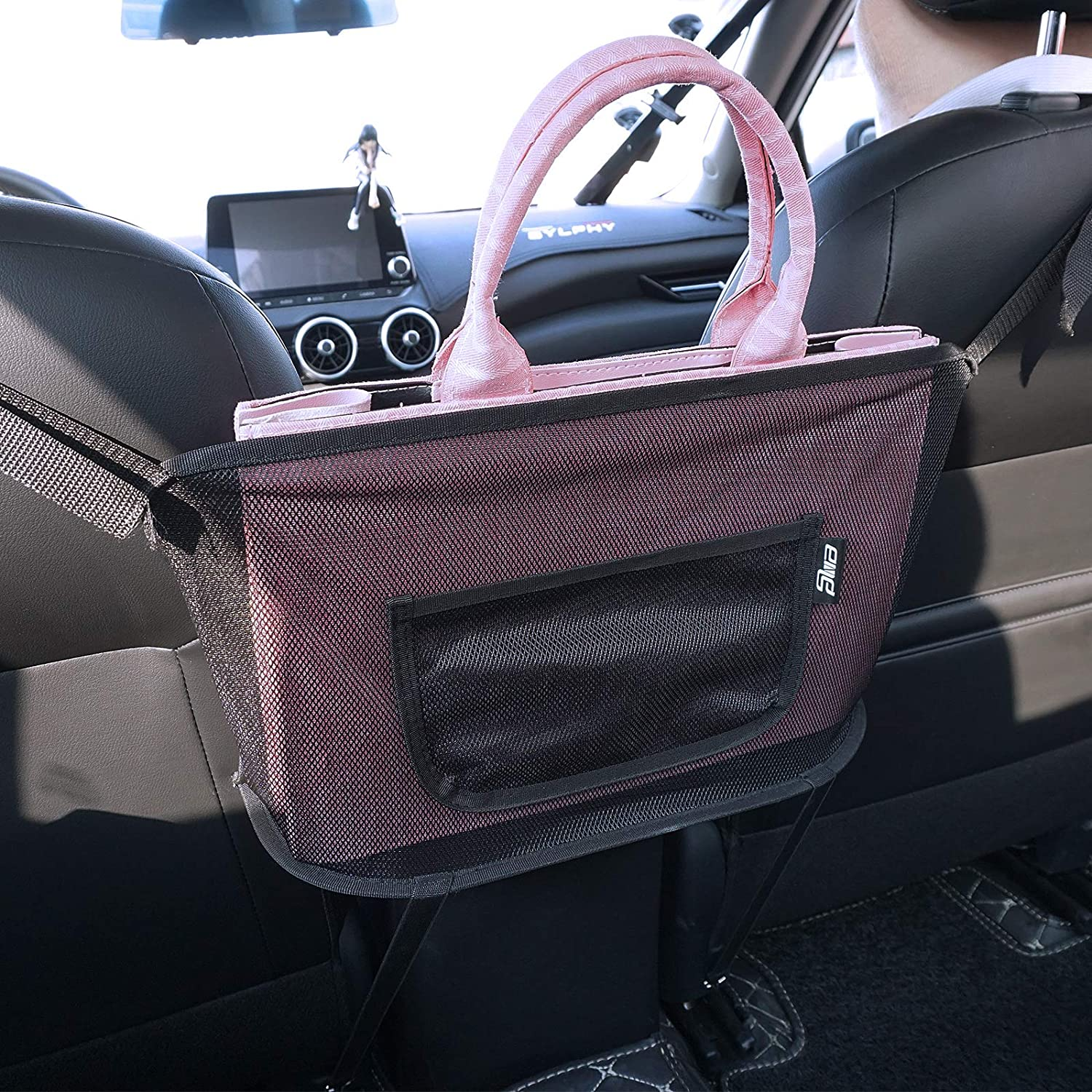 Car Safety and trust Mesh Organizer Ranking integrated 1st place Console Seat Back Pouch Purse Stora