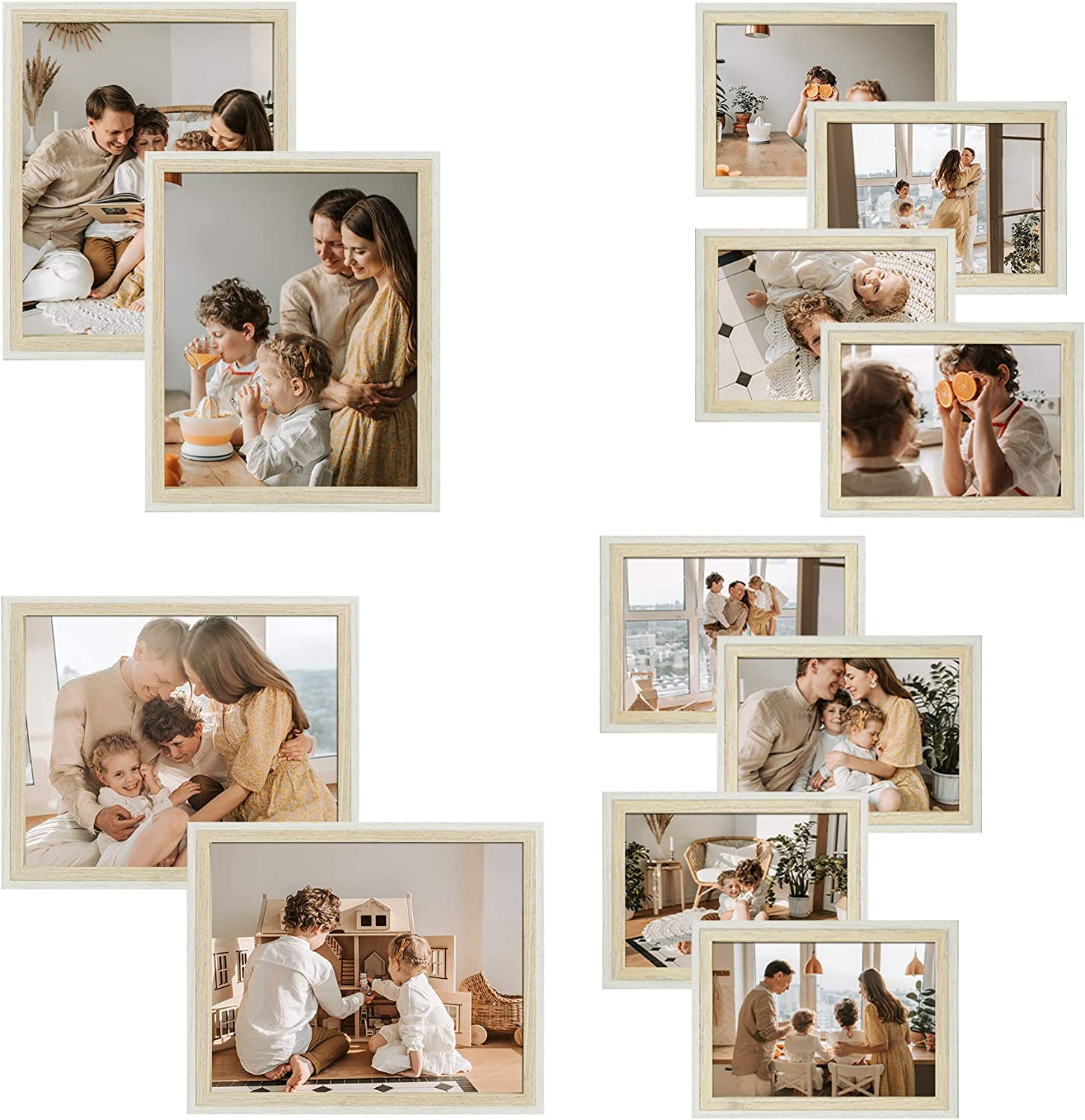 Golden State Art Two-Tone Collage Arlington Mall Photo Wall Set Gallery Max 90% OFF Frame