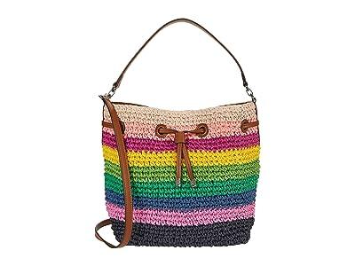 LAUREN Ralph Lauren Crochet Straw Debby Drawstring Medium