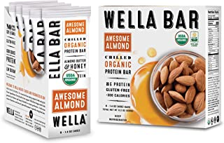 Wella Bar | Chilled Organic High Protein Bars | (Awesome Almond)
