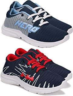 Camfoot Comfortable Pack of 2 Multicolor Collection of Sports Shoes for Kids & Boys (9267-9264)