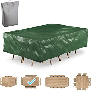 """GARDSQUID Patio Furniture Cover Waterproof, Tear-Resistant, UV Resistant Outdoor Table, Sofa, Sectional Cover (111""""X74""""X29"""")"""