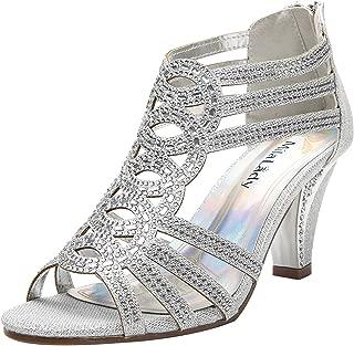 Women's Evening Rhinestone Lexie Crystal Dress Heeled Sandals