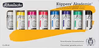 Schmincke Künstlerfarben, Küpper's Gouache, Akademie® Gouache, Kartonset, 8 x 60 ml Tuben