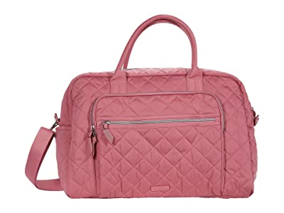 Vera Bradley Iconic Performance Twill Weekend Travel Bag (Strawberry Ice) Carry on Luggage
