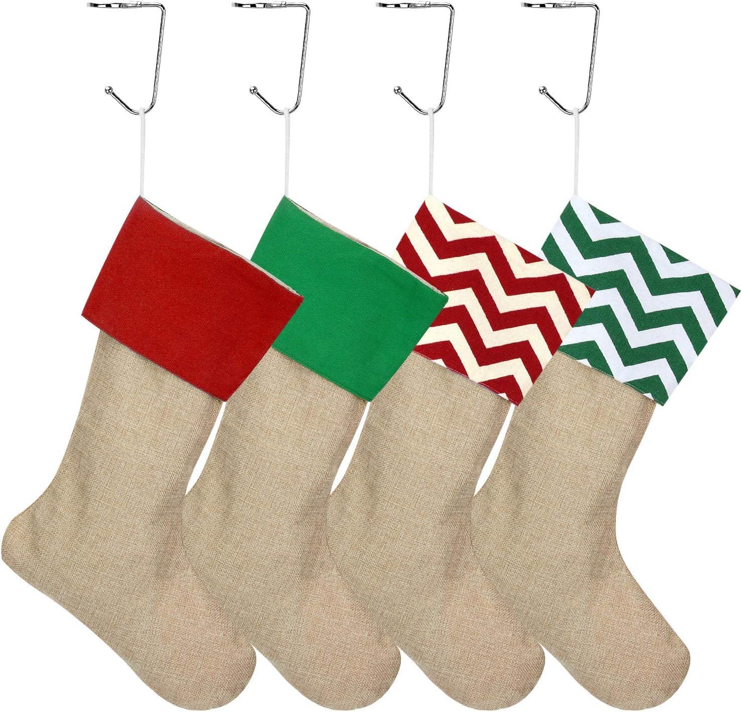 9 Christmas Hangers for Fireplace Xmas Mantel Holder Hooks with Non-Slip Design Blisstime Christmas Stocking Holders for Mantel