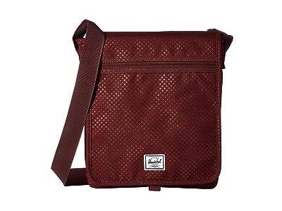 Herschel Supply Co. Lane (Plum Dot Check) Messenger Bags
