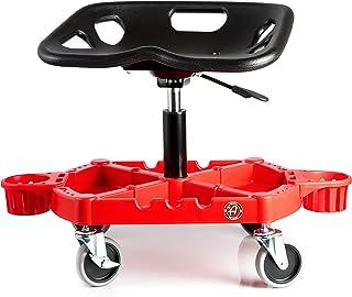 Adam's Pro Rolling Stool - Car Detailing Stool Chair | Shop Stool with Wheels, Garage Organizer & Tool Organizer Tray | Ad...