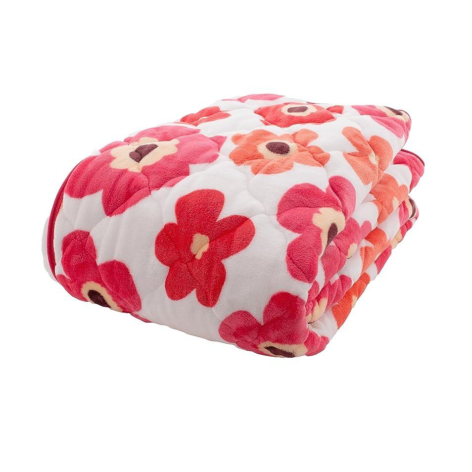 不愉快ハイライトおんどりアイリスプラザ 敷きパッド シングル ベッドパッド プレミアムマイクロファイバー 洗える 静電気防止 とろけるような肌触り fondan 品質保証書付 花柄レッド 100×200cm