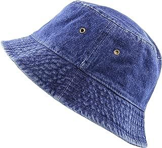 THE HAT DEPOT Washed Cotton Denim Bucket Hat
