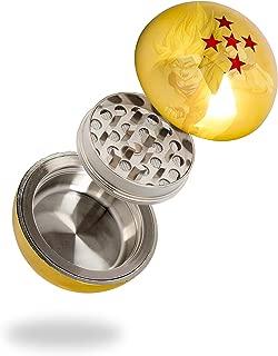 Golden Dragon Ball Z Herb Grinder - 3 Piece Grinder 55MM (2.2 Inches) - Best For Herb & Spices - Gift Box (5 Star)