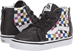 (Glitter Checkerboard) Black/True White