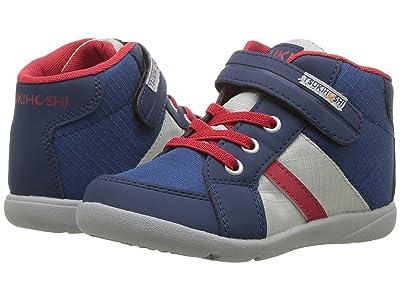 Tsukihoshi Kids Grid (Toddler/Little Kid) (Navy/Red) Boys Shoes