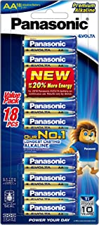 Panasonic EVOLTA Alkaline Battery, AAA, 18-pack