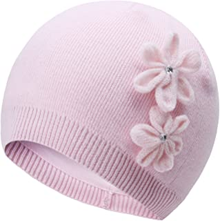 Baby Hats Toddler Girl's Winter Knitted Cap Pink Flower hats0-6T