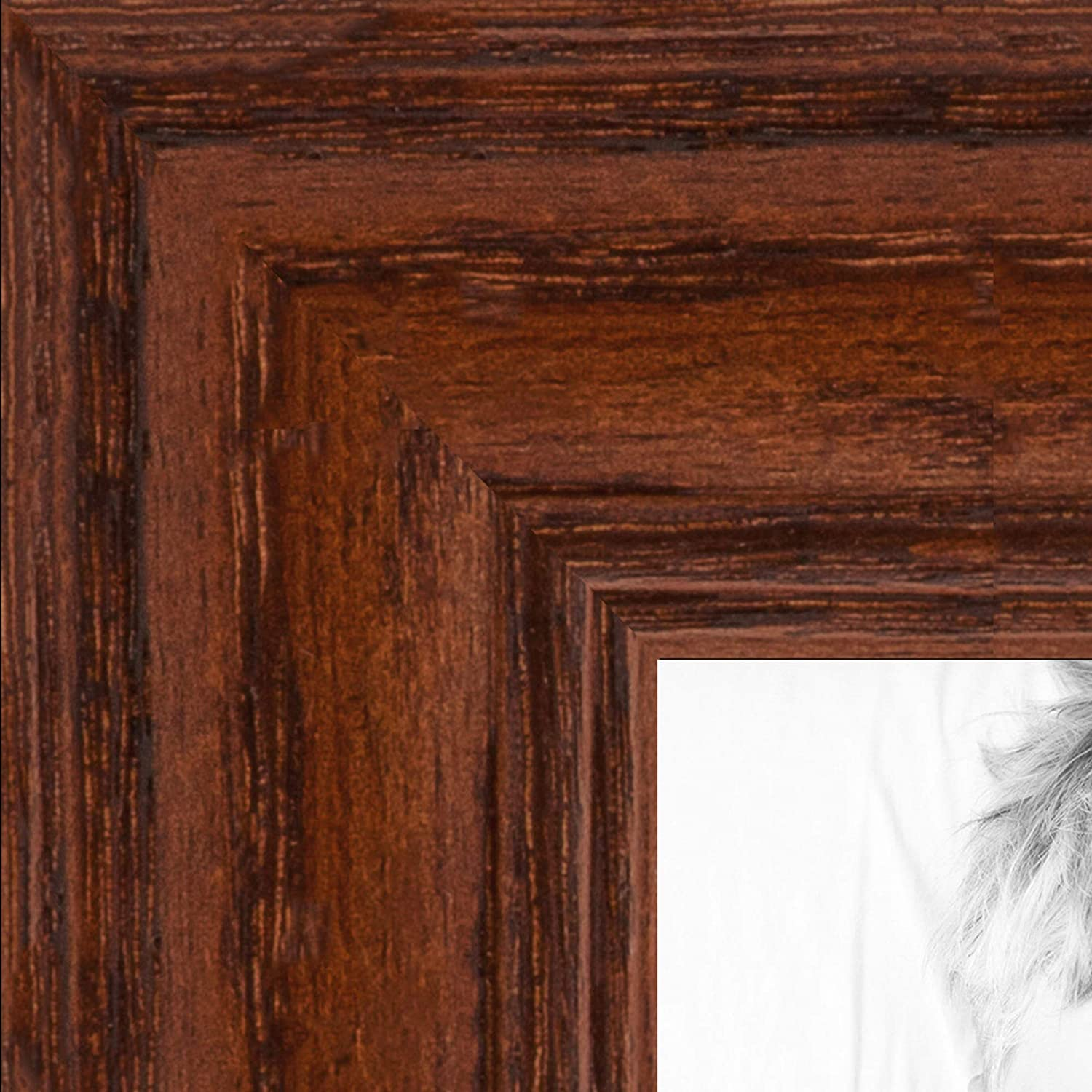 ArtToFrames 13x29 inch Walnut Translated Stain on Wood Solid Pictur 25% OFF Oak Red