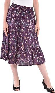 ce7ce4558c COTTON BREEZE Women's Cotton A-line Skirt (FP540, Multicolour, Free Size)