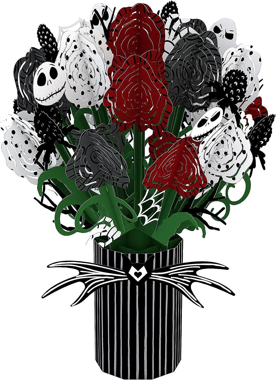 Lovepop Disney Tim Burton's The Nightmare Before Christmas Seriously Spooky Bouquet, 10.25x7.25, 3D Pop Up Greeting Card - 3D Halloween Flowers, Pop Up Bouquet, Halloween Pop Up Cards