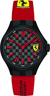 Ferrari Men's Grey and Black Dial Rubber Band Watch - 840007
