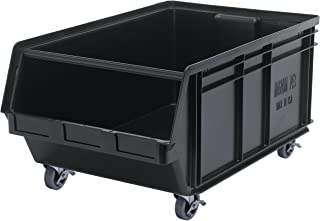Quantum Storage Systems QMS843MOBBK Heavy Duty Mobile Magnum Bin with Spread Bar, 29