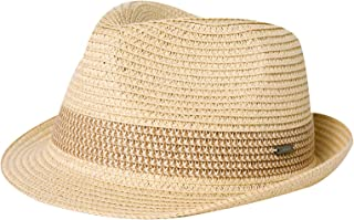 Sponsored Ad - Fancet Packable Straw Fedora Panama Sun Summer Beach Hat Cuban Trilby Men Women 55-64cm