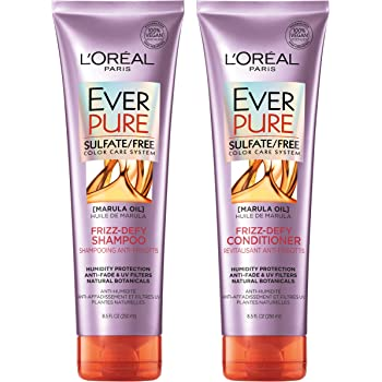 L'Oreal Paris EverPure Frizz Defy Shampoo & Conditioner Kit for Color-Treated Hair, 8.5 Ounce, Set of 2