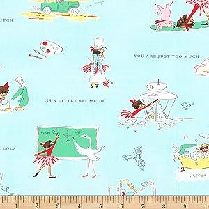Michael Miller Fabrics Lola Dutch a Little Bit Much Cloud, Quilting Fabric by the Yard