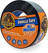 Gorilla All Weather Outdoor Waterproof Duct Tape, UV and Temperature Resistant, 1.88
