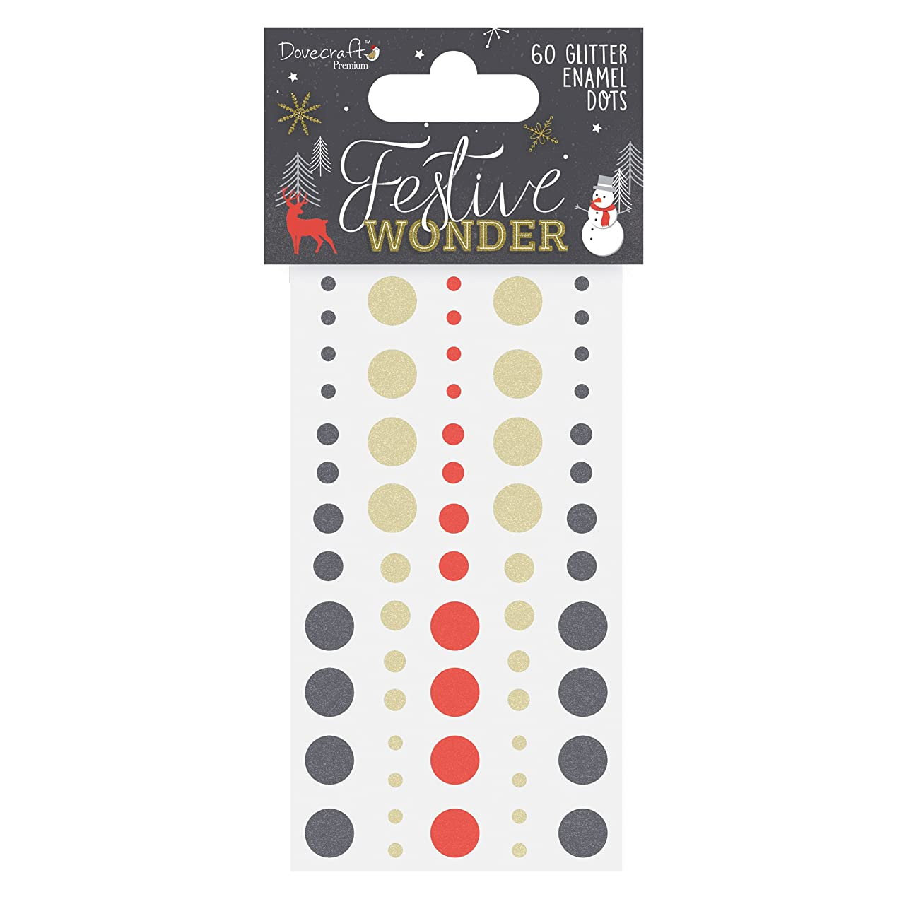 Dovecraft Christmas 2018 Premium Collection - Festive Wonder Glitter Dots