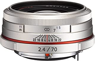 Pentax K-Mount HD DA 70mm f/2.4 70-70mm Fixed Lens for Pentax KAF Cameras (Limited Silver)