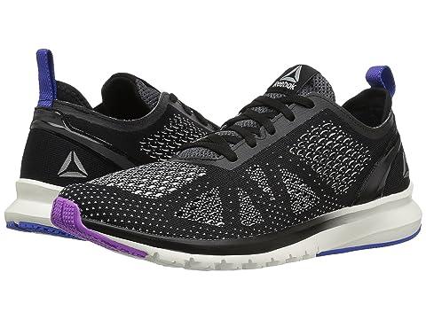 Womens Print Smooth Clip Ultk Track Shoe, Black/chalk/Vicious Violet/Vital Blue, 10 M US Reebok
