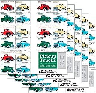 Pickup Trucks USPS Forever Stamp 1938 International Harvester D2, 1948 Ford F1, 1953 Chevrolet, 1965 Ford F100 (5 Books of 20 Stamps)